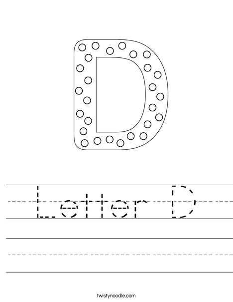 Letter D Dots Worksheet