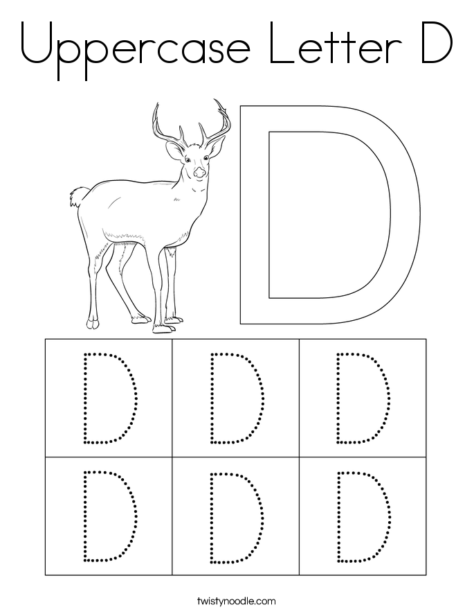 Uppercase Letter D Coloring Page