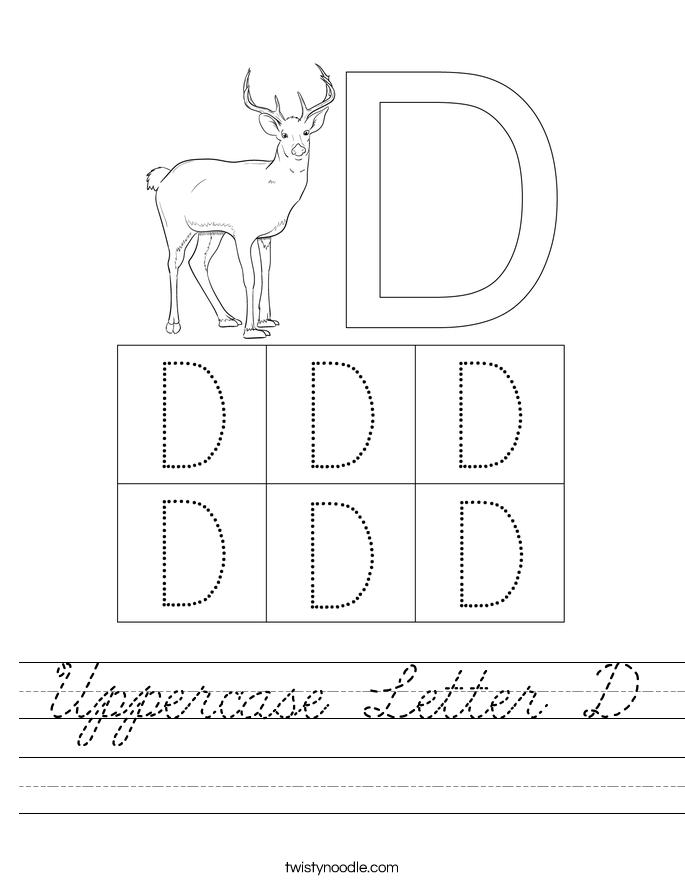 Uppercase Letter D Worksheet