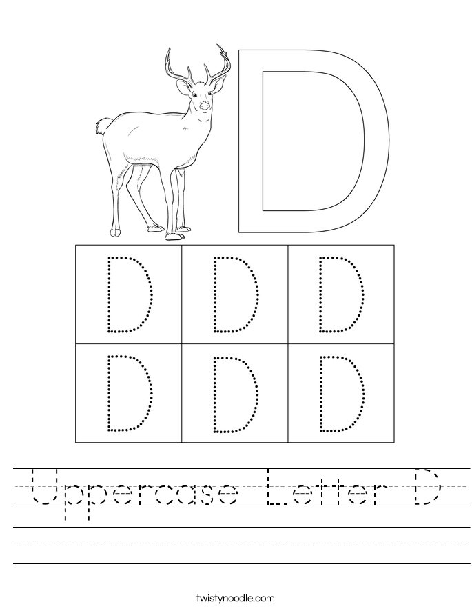 Uppercase Letter D Worksheet