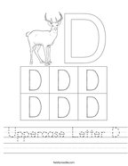 Uppercase Letter D Handwriting Sheet