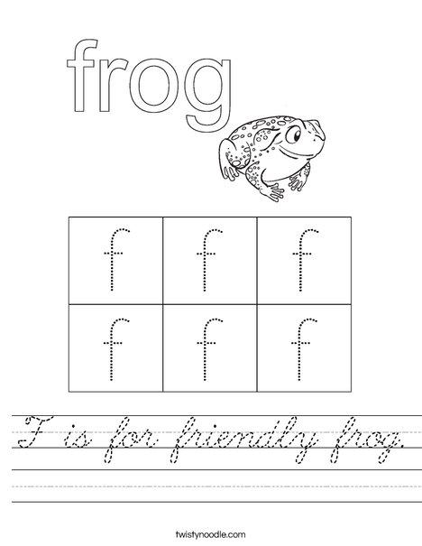 Friendly Frog Worksheet