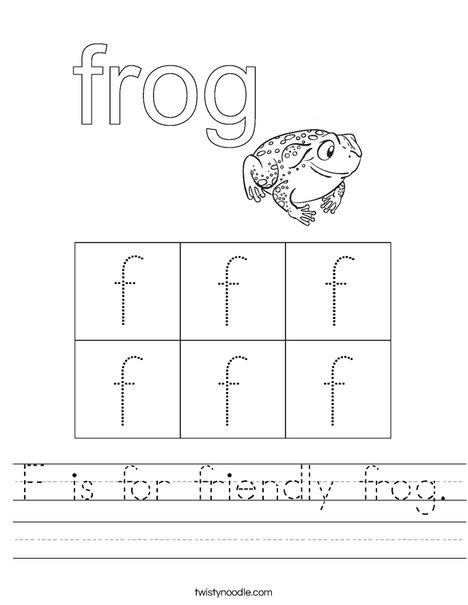 Friendly Frog Worksheet