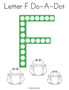 Letter F Do-A-Dot Coloring Page