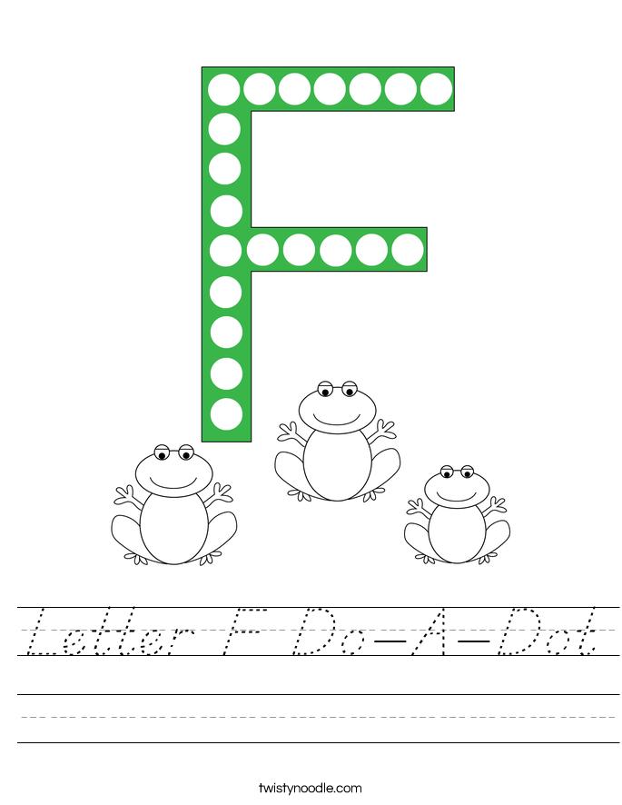 Letter F Do-A-Dot Worksheet