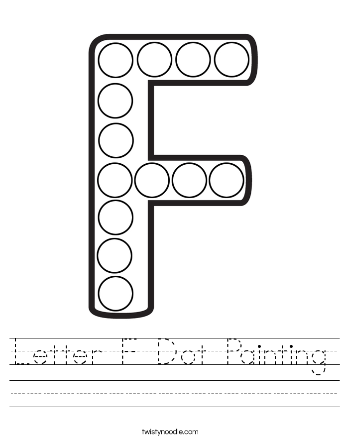 Letter F Dot Painting Worksheet