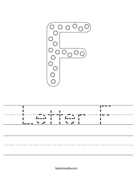 Letter F Dots Worksheet