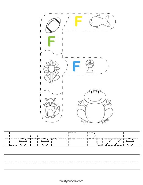 Letter F Puzzle Worksheet