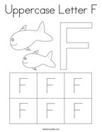 Uppercase Letter F Coloring Page
