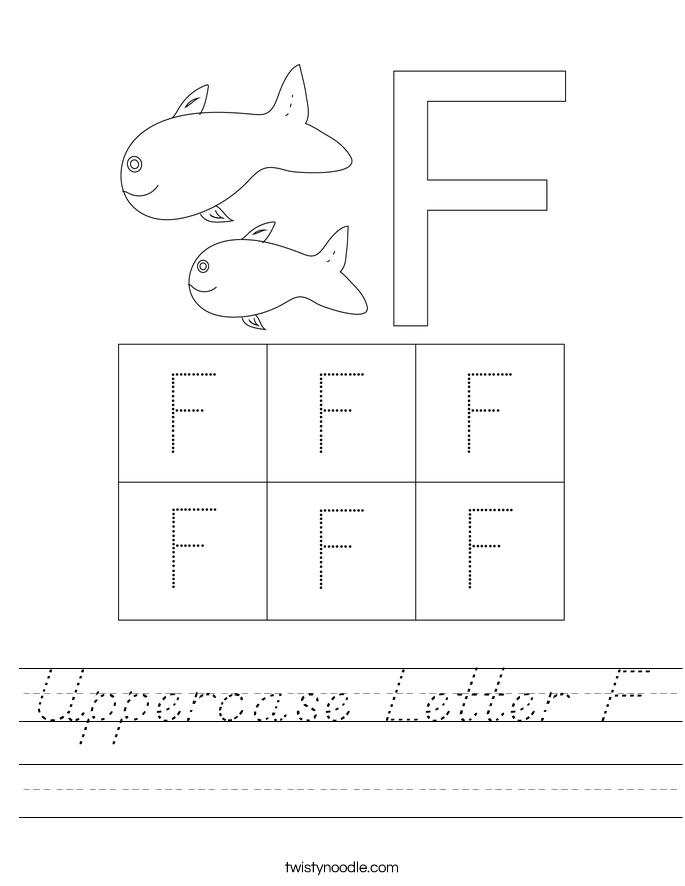 Uppercase Letter F Worksheet