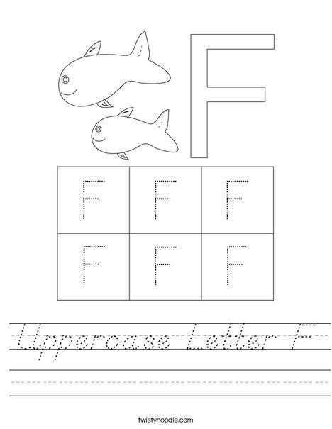 Letter F Worksheet