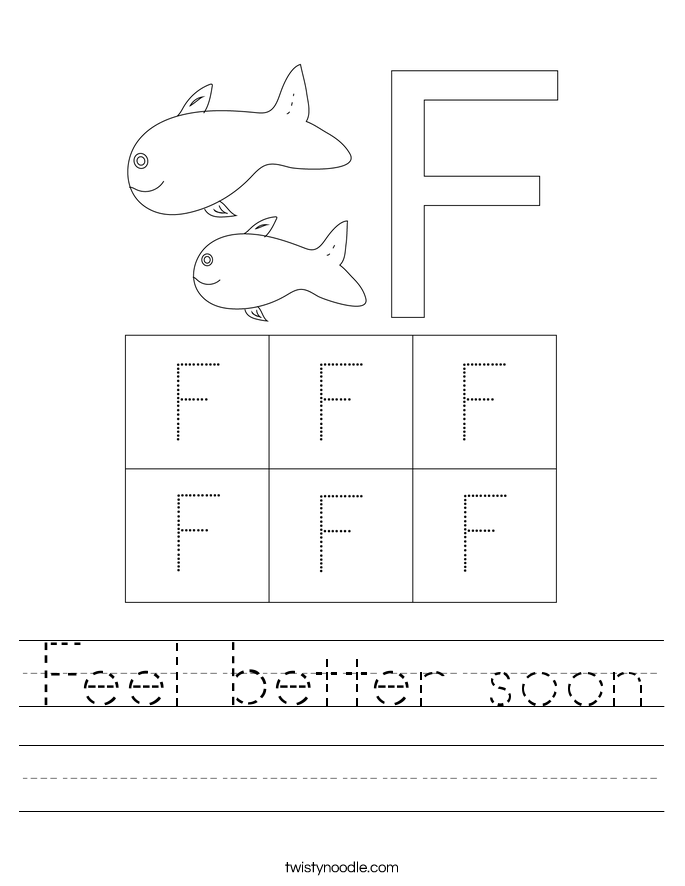 Feel better soon Worksheet