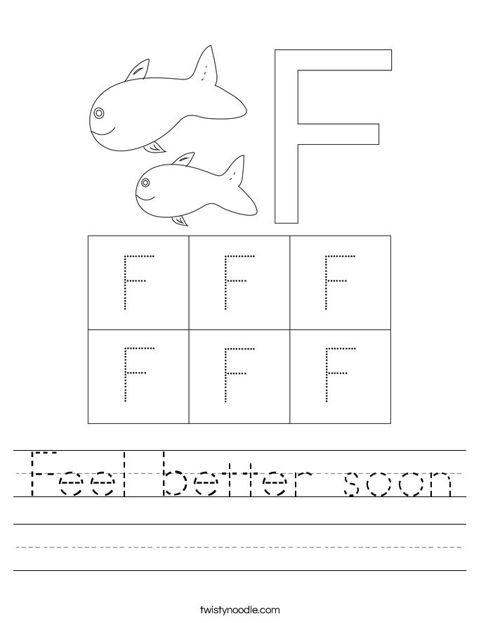 Feel better soon Worksheet