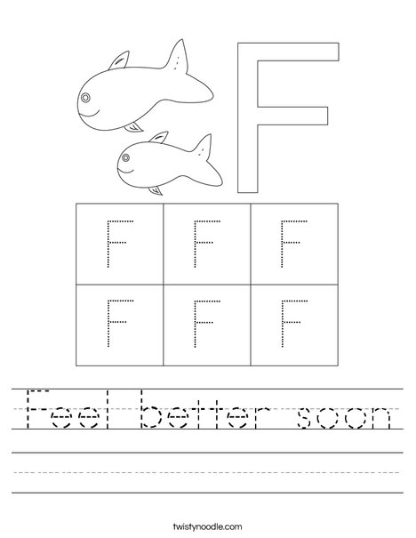 Letter F Worksheet