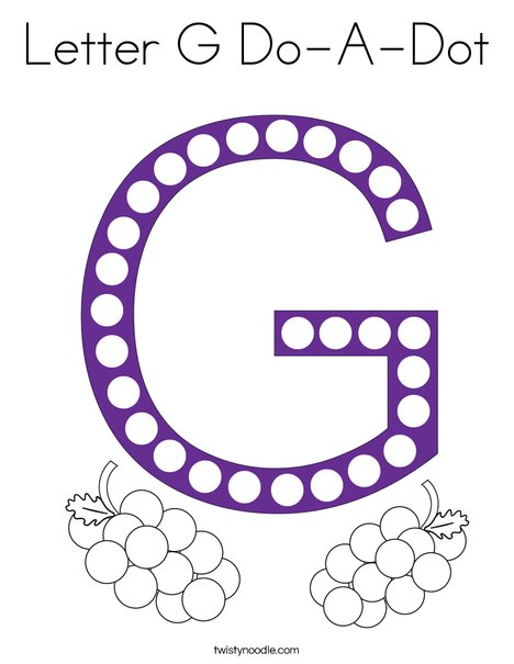 Letter G Do-A-Dot Coloring Page