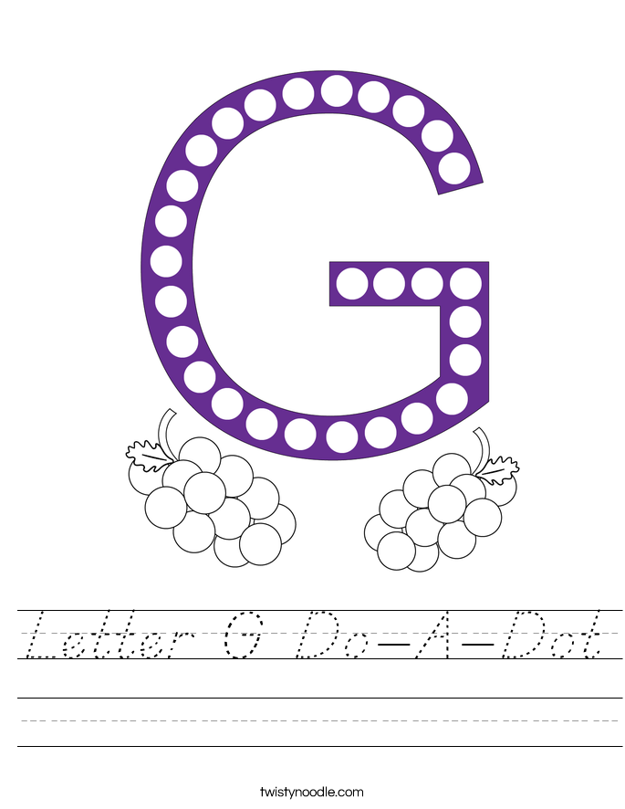Letter G Do-A-Dot Worksheet