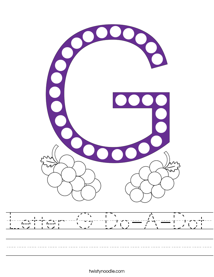 Letter G Do-A-Dot Worksheet