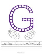 Letter G Do-A-Dot Handwriting Sheet