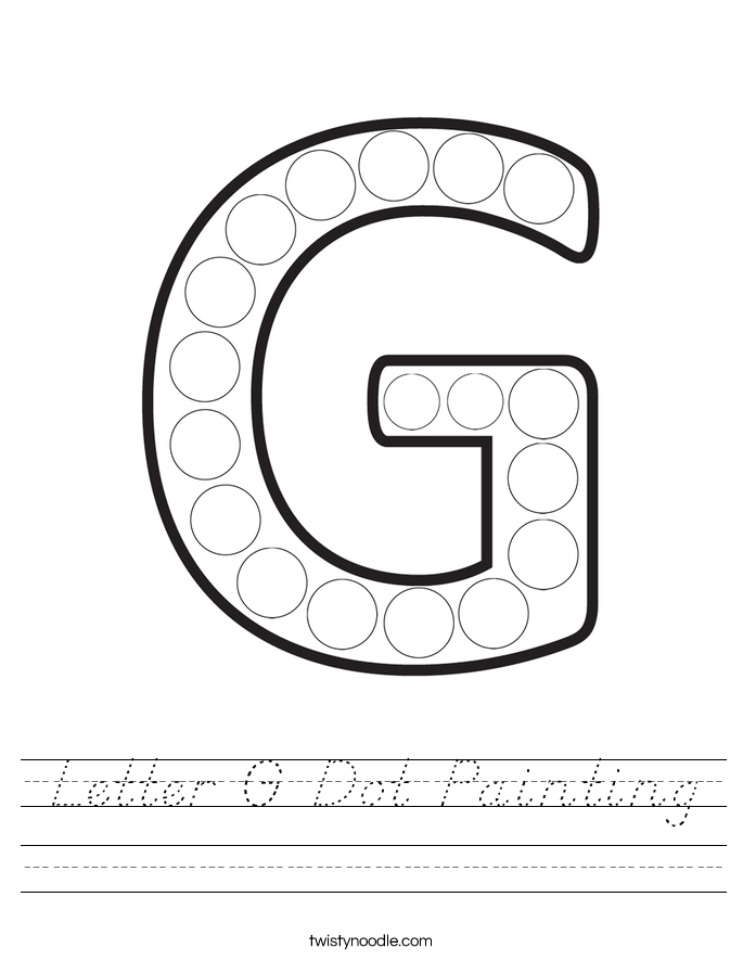 Letter G Dot Painting Worksheet