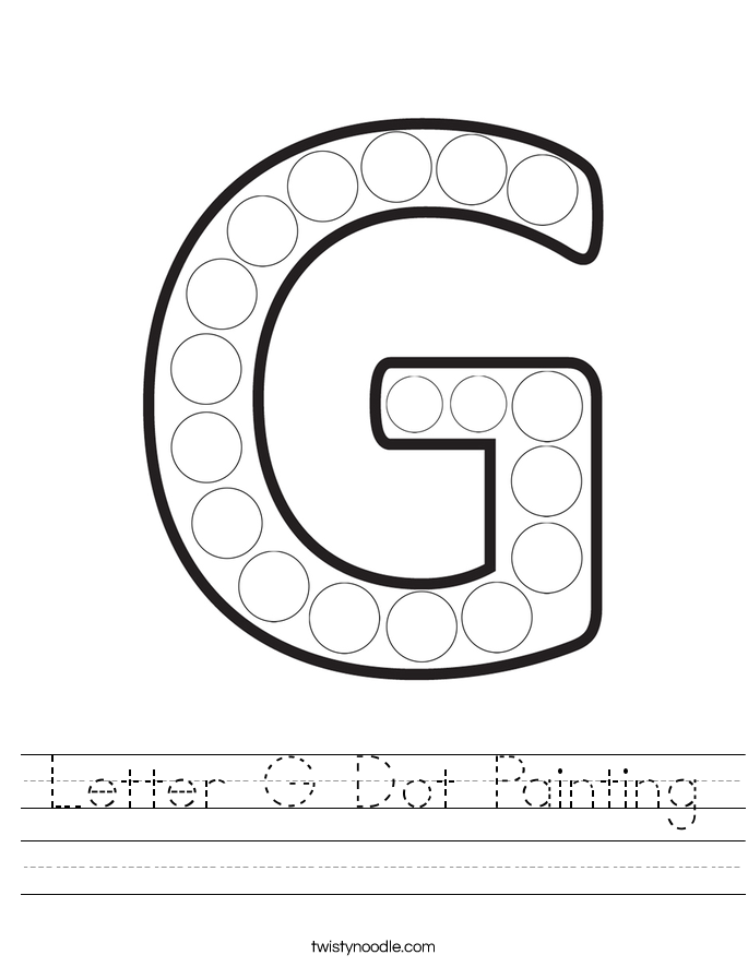 Letter G Dot Painting Worksheet