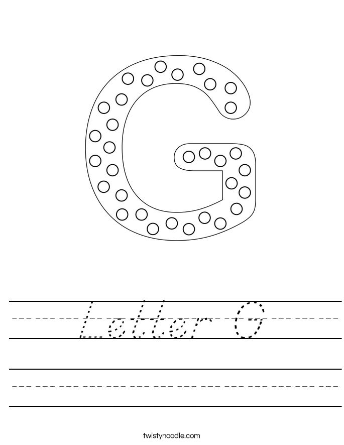 letter g worksheet d 39 nealian twisty noodle. Black Bedroom Furniture Sets. Home Design Ideas