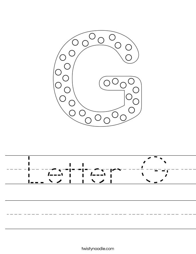Letter G Worksheets Handwriting : www.imgarcade.com ...