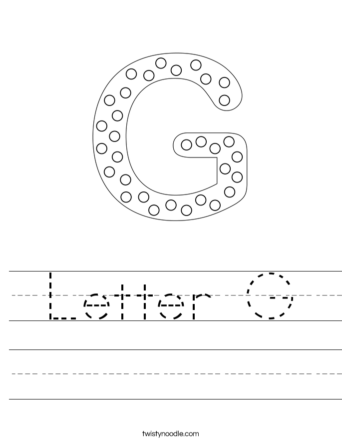 Printables Letter G Worksheets letter g worksheets twisty noodle handwriting sheet