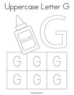 Uppercase Letter G Coloring Page