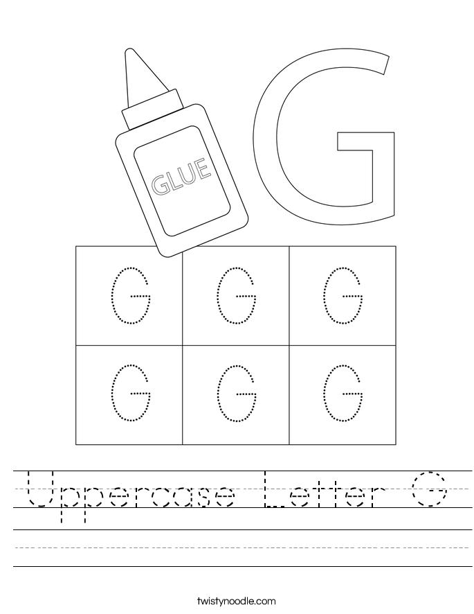 Uppercase Letter G Worksheet