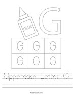Uppercase Letter G Handwriting Sheet