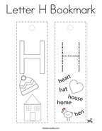 Letter H Bookmark Coloring Page