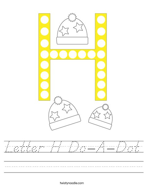 Letter H Do-A-Dot Worksheet