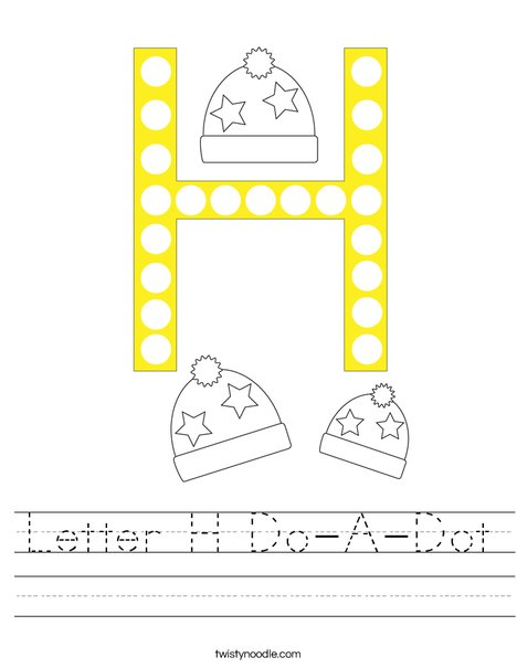 Letter H Do-A-Dot Worksheet