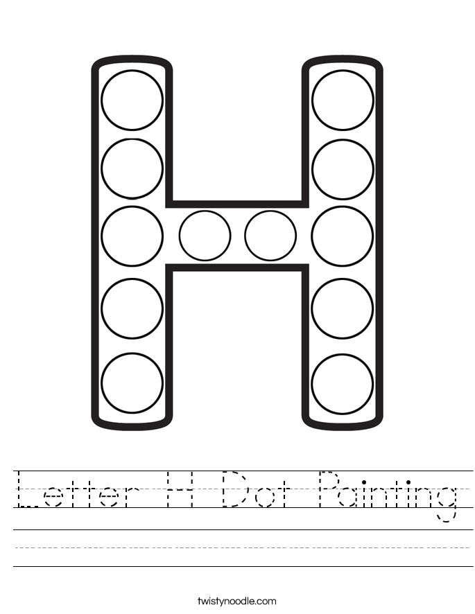 Letter H Dot Painting Worksheet