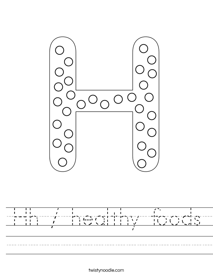 Hh / healthy foods Worksheet