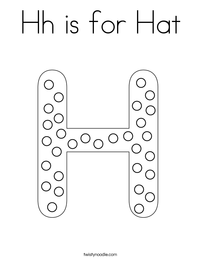 Hh is for Hat Coloring Page