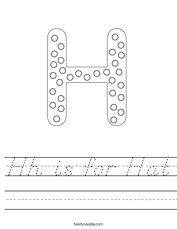 Hh is for Hat Worksheet