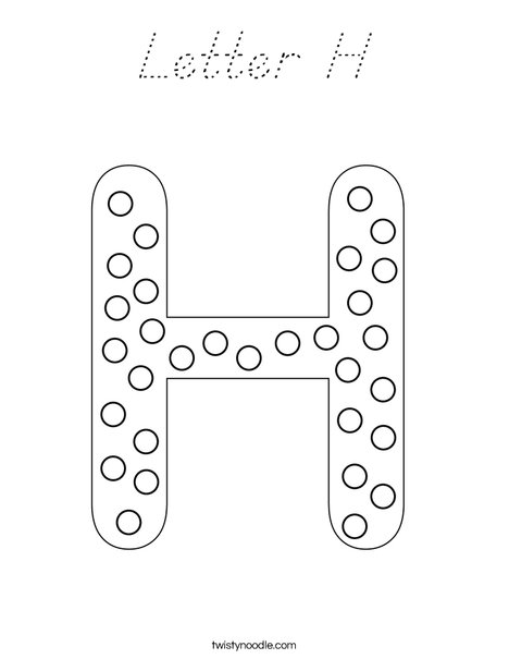Letter H Dots Coloring Page