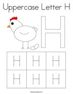 Uppercase Letter H Coloring Page