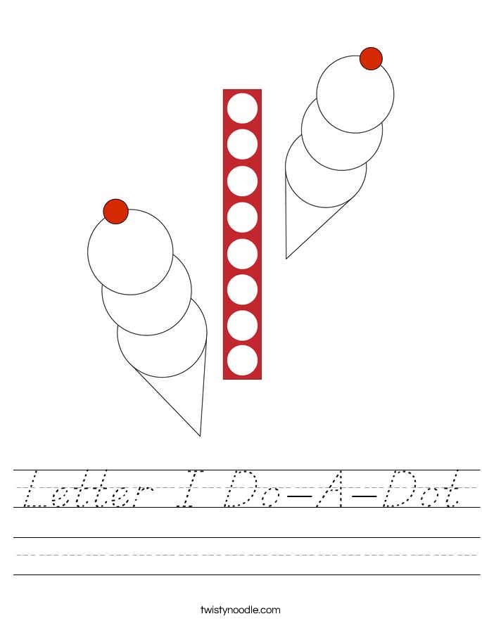 Letter I Do-A-Dot Worksheet