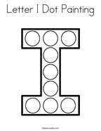 Letter I Dot Painting Coloring Page