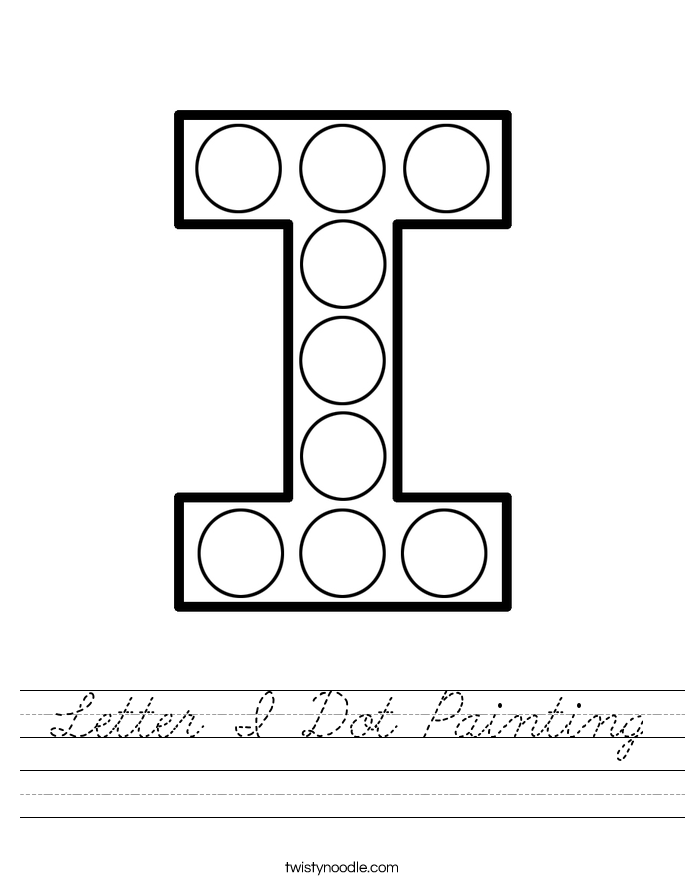 Letter I Dot Painting Worksheet