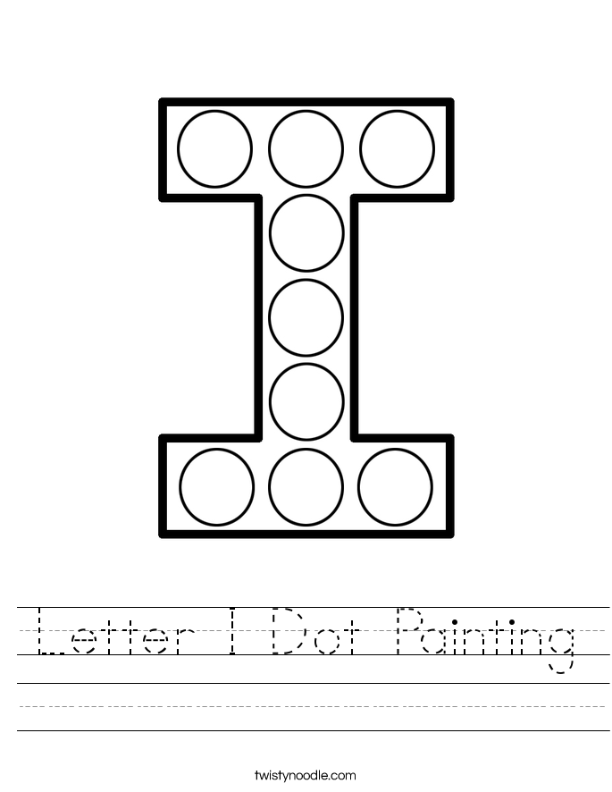 Letter I Dot Painting Worksheet