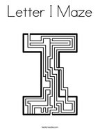 Letter I Maze Coloring Page