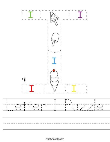Letter I Puzzle  Worksheet