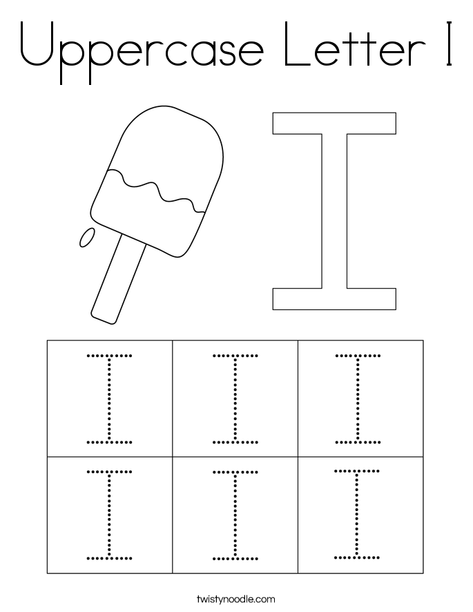 Uppercase Letter I Coloring Page