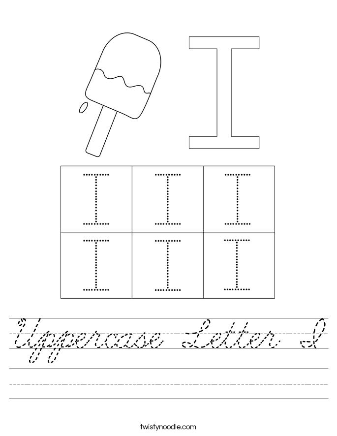 Uppercase Letter I Worksheet