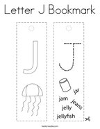 Letter J Bookmark Coloring Page