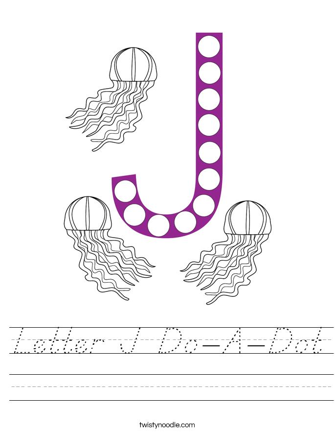 Letter J Do-A-Dot Worksheet
