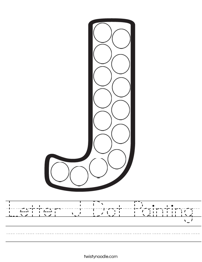 Letter J Dot Painting Worksheet